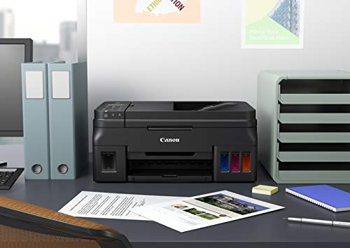 Canon PIXMA G4210 Wireless All-In-One Supertank (Megatank) Printer, Copier, Scan, Fax and ADF with Mobile Printing, Black, One Size (2316C002)