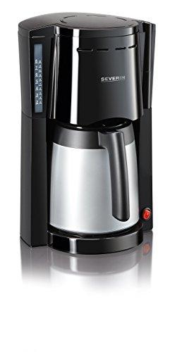 SEVERIN Kaffeemaschine, Für gemahlenen Filterkaffee, 8 Tassen, Inkl. 2 Thermokannen, KA 9482, Schwarz/Silber
