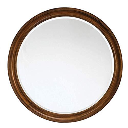 Espejo maquillaje Espejos maquillaje pared para baño Espejos pared biselados redondos Espejo afeitar con agujeros perforados para el hogar vidrio HD, para pasillo, sala estar, dormitorio, decoración