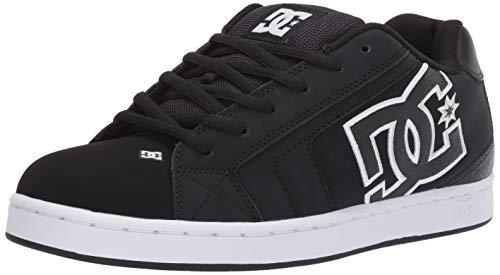 DC Shoes DC Herren NET Skate-Schuh, Schwarz Schwarz Weiß, 53.5 EU