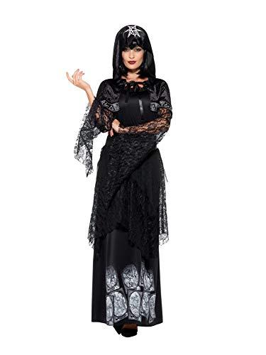 SMIFFYS Costume Signora della Magia nera, Nero, con abito, cintura e mantello