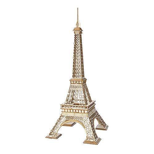 Gobesty Kit Tour Eiffel en Bois, Kit de Puzzle 3D pour Adolescents et Adultes, Maquette en Bois de la Tour Eiffel Faisant 122 pièces, Kits de Construction de modèles en Bois pour Adultes, Enfants