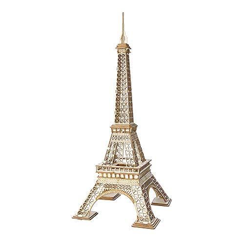 Gobesty Wooden Kit Eiffel Tower, 3D Puzzle Kit for Teens and Adults, Eiffel Tower Wood Model Making 122 Parts, Wooden Model Building Kits for Adults, Children