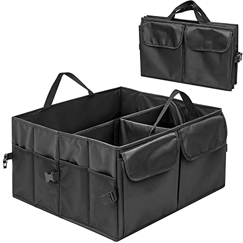 An image of the Tanness Car Boot Organiser Bags Trunk Organiser Vehicle Storage Box Foldable Car Storage Bags Travel Storage Bag for Tidy Auto Organization & Boot Maintenance