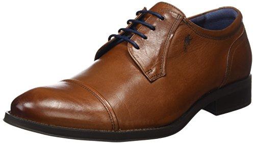 Fluchos Heracles, Zapatos de Cordones Derby para Hombre, Marrón (Cuero 000), 44 EU