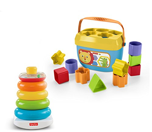 New Fisher-Price Rock-a-Stack & Baby's First Blocks Bundle [Amazon Exclusive]
