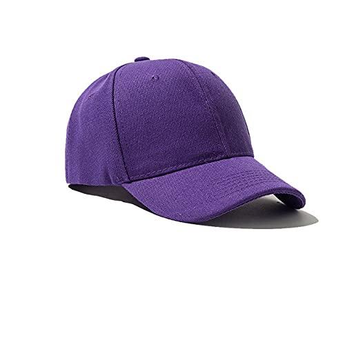 Gorra de béisbol Gorra Casuales Sombreros sólidos Color Puro Gorra Negra Snapback Gorras para Hombres Mujeres-purple-7-one Hat Print