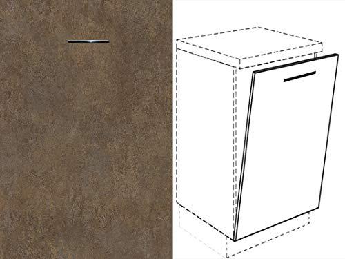 Premium-Ambiente FRT209 Unterschrank Front für Geschirrspüler FE (Breite 60cm-vollintegriert, 02 Ferro Bronze)