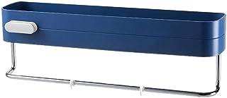 XINGBINGLE バスルームシェルフバスラックバスルーム収納シャワーキャディハンギングバスルームシェルフバスシェルフバスルームシェルフドリルなしシャワーシェルフシャワーラック収納棚用シェルフユニットdarkblue (Color : 濃紺)