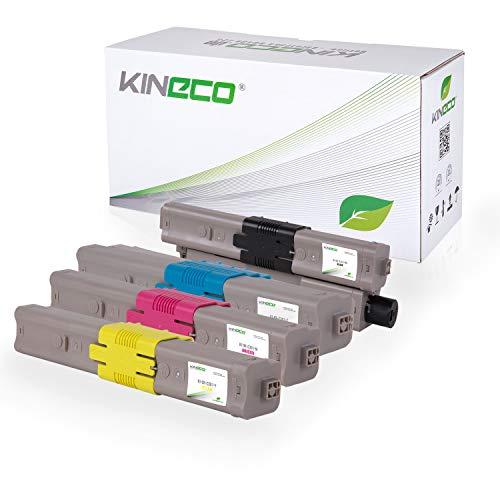 4 Toner kompatibel mit Oki C301 C321 DN MC-332 DN 340 Series 342 DN DNW - 44973536 44973535 44973534 44973533 - Schwarz 2.200 Seiten, Color je 1.500 Seiten