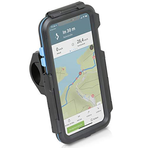 Wicked Chili Tour Case kompatibel mit iPhone XS MAX (6,5 Zoll) passgenaues Case mit Fahrrad Lenkerhalterung für Navigation (Schutz vor Regen, Ladekabelanschluss) schwarz