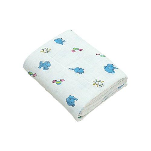 Boshiho Mousseline de coton Double chaud Couverture pour bébé et serviette de bain pour nouveau-né Infants, 6couches 104,1cm, Meilleur Mothercare Cadeau