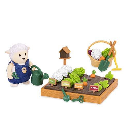 Li'l Woodzeez – Ensemble de Jardin – Jouets de 31 pièces avec Figurine Animal et Accessoires de Jardinage – Mini-poupées et Sets de Jeu – Enfants de 3 Ans et Plus