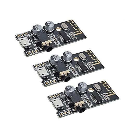 Módulo receptor de audio inalámbrico Bluetooth MP3 M28 Junta 4Wireless sonido estéreo Módulo Negro 3PCS, elemento