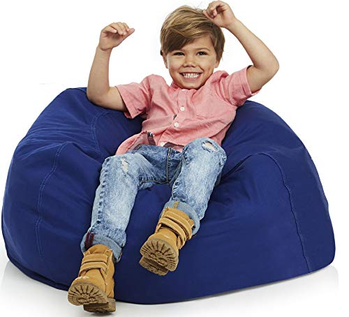Delmach Bean Bag Chair Cover | Stuffed Animal Storage | 38' Width Extra Large | 100% Cotton Canvas | Double Stitched | Durable Zipper | Fill with Anything Soft | Beans not Included