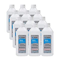 Twelve 16-fluid ounce bottles of first Aid antiseptic First aid to help prevent risk of infection from minor cuts, scrapes and burns 70% Isopropyl Alcohol Package Dimensions: 17.526 L x 26.924 H x 20.574 W (centimeters)
