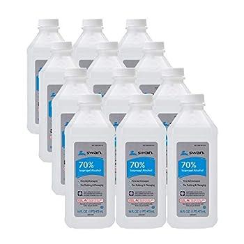 Swan 70 Isopropyl Alcohol First Aid Antiseptic Clear 192 Fl Oz