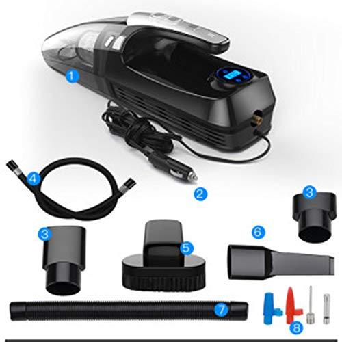 ZW Auto-Staubsauger, Handstaubsauger, Saugstark nachladbare nasse trockene Akku-Handstaubsauger mit LED-Licht Leicht Nass Trockensauger für Haus und Auto