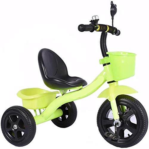 YWAWJ Equilibrio Vespa Bicicleta for niños 1-6 años de Coches Vespa Pedal de la Bicicleta Vieja Regalo Juguetes Selección del Muchacho y Toy Cars 3 Opciones de Color (Color : Green)
