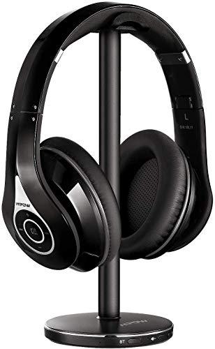 Mpow H5 Auriculares con Cancelación de Ruido, 30 Horas de Juego, Cascos con Cancelación de Ruido, Hi-Fi Sonido, Auriculares Diadema Bluetooth Plegable para PS4/Gaming/iPhone/Xiaomi/TV/PC