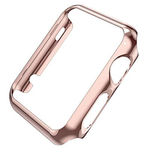 Cover Compatibile Con Apple Watch Series 3 38 mm/42mm Custodia PC Duro Ultra Sottile Plated Metal Schermo Case Antiurto Protettiva Bumper Per iWatch Series 2 Series 1 (Oro rosa, Series 3 42 mm)