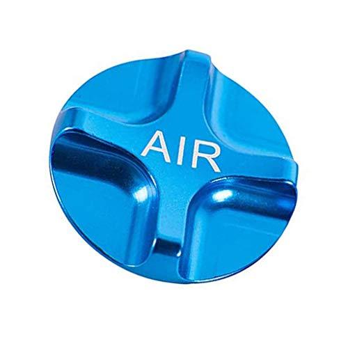Fahrrad-Federgabel für Mountainbike, Rennrad, Fahrrad, Air Gas Shcrader Ventilkappen, blau