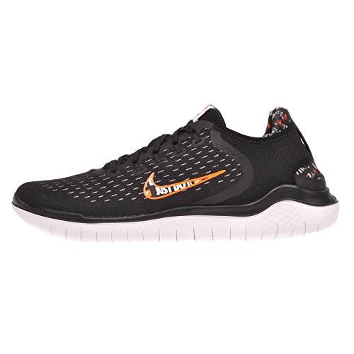 Nike Mens Free Rn 2018 Running Shoe ( Black/Total Orange/White, 10 M US)
