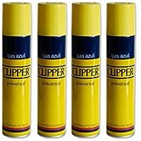 4 botellas Gas Clipper 250 ml. cada una.