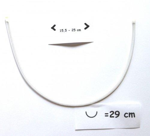 Telliswelt BH beugel vervangende beugel verschillende maten flexibel kunststof allergievrij vervanging 29.5 cm x 15.5 - 25 cm (95)