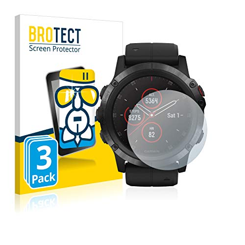 BROTECT Protector Pantalla Cristal Compatible con Suunto Ambit3 Peak Black Protector Pantalla Vidrio (3 Unidades) - Dureza Extrema, Anti-Huellas