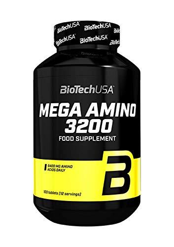 BIOTECH USA MEGA Amino ACIDS 3200 100 Tablets - Whey Protein Pills | BCAA | Anabolic & Anticatabolic