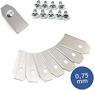 Cuchilla Cuchillo de repuesto para robot cortacésped Husqvarna y Gardena (0,75 mm), incluye tornillos, Premiumpreis® (66)