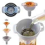 Yuxáhiugld Herramientas Embudo colador de Cocina Aceite de Agua Especias Vino matraz de filtración Embudo de plástico Accesorios de Cocina.