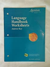 Language Handbook Worksheets Answer Key (Elements of Literature Introductory Course)