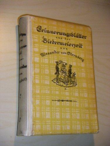 Erinnerungsblätter aus der Biedermeierzeit.