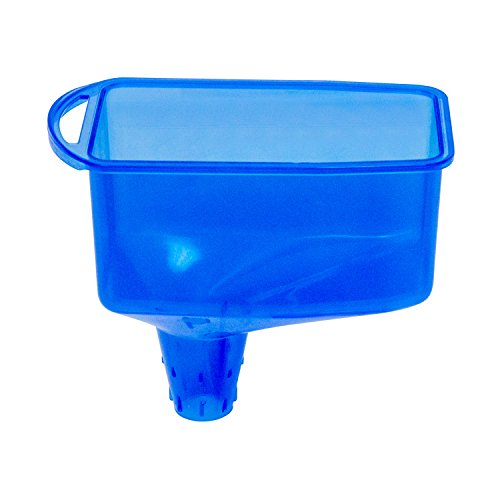 OEMTOOLS 87012 Square Funnel | Designed to Fit 1-Quart Quick, No-Mess Filling | Car Oil Change Container | Safe for Many Types of Automotive Fluids | Blue