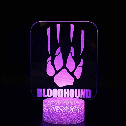 3D Nachtlicht Illusion Stimmungslampe APEX Legends Bloodhound 16 Farben Farbwechsel Acryl LED Nachtlicht für Jungen Mädchen Geburtstag oder Feiertage Geschenk