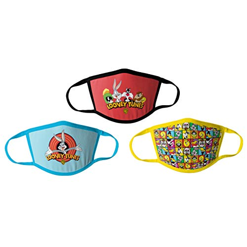 Product Image of the Looney Tunes Kids Cloth Face Masks Cotton Pack of 3 Washable Reusable...