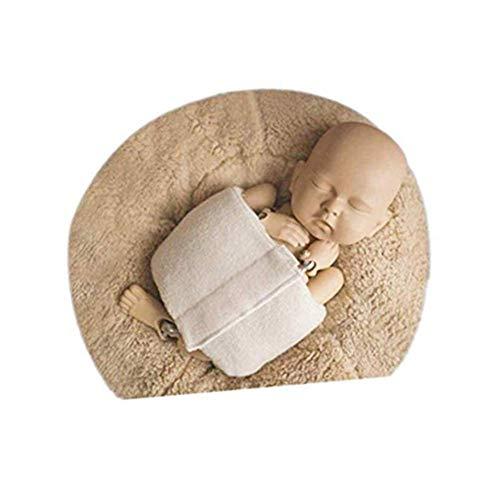 Newborn Baby Photography Props Boys Girls Potato Posing Professional for Posing Baby Contoured Posing Wrap Beige