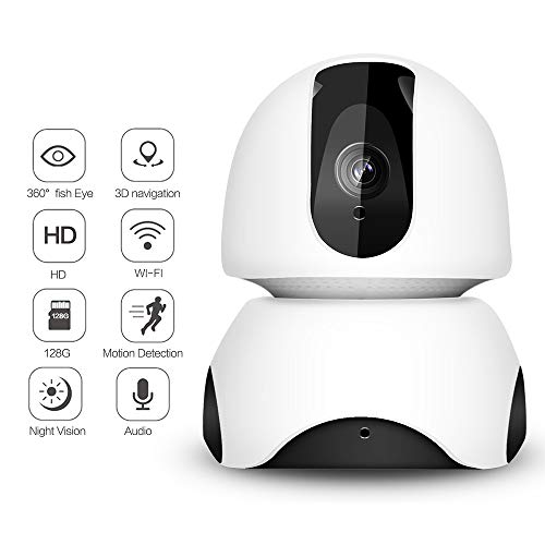 2 miljoen HD draadloze IP camera 360 graden fish eye 3D navigatie Remote Motion Detect Alert met Two-Way Audio Night Vision Home Surveillance