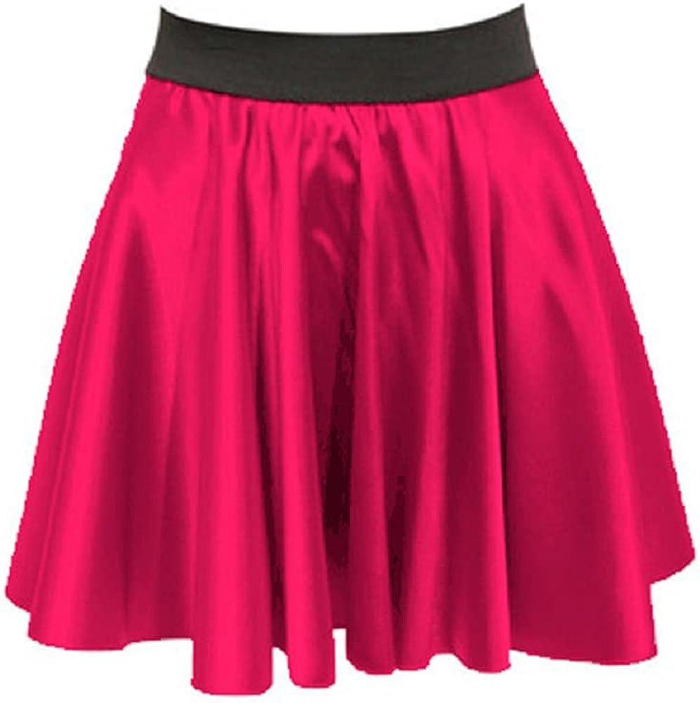 Meek Mercery Satin Elegant Skirt Skater Skirt Casual/Party Wear Stretchy Skirt One Size S11
