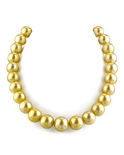 Collana con perle coltivate in mare del sud, 13-15,4 mm, qualità AAA.