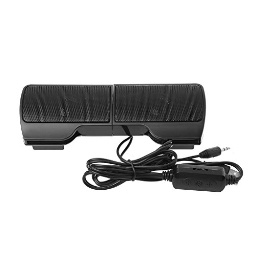 Nankod Lautsprecher Mini USB Powered Line Control Stereo Clip-On Leichte tragbare 3.5 mm Audio-Schnittstelle für Notebook Laptop