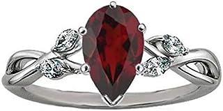 1ee21b04edb30 Amazon.com: Diamond: Garnet Jewelry