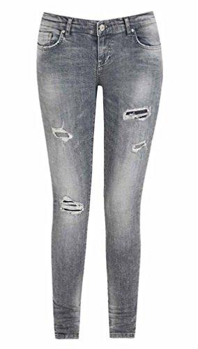 LTB Damen Jeans Mina Silvermoon Low Rise Super Slim 50764-50364, Größe:W29, Farbe:Mina Silvermoon (50764-50364)