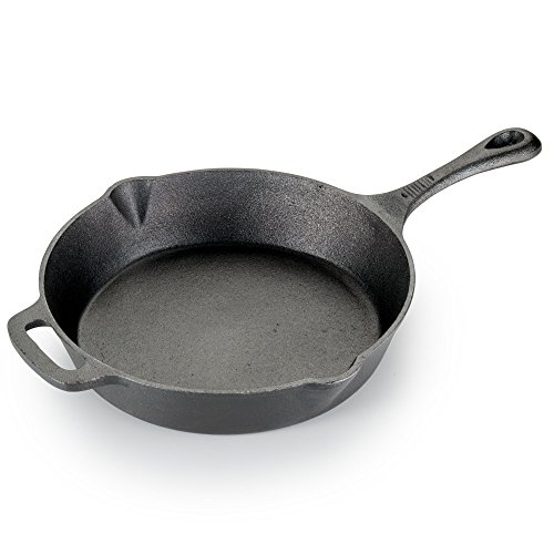 T-fal E83405 Pre-Seasoned Nonstick Durable Cast Iron Skillet / Fry pan Cookware, 10.25-Inch, Black - 2100082837