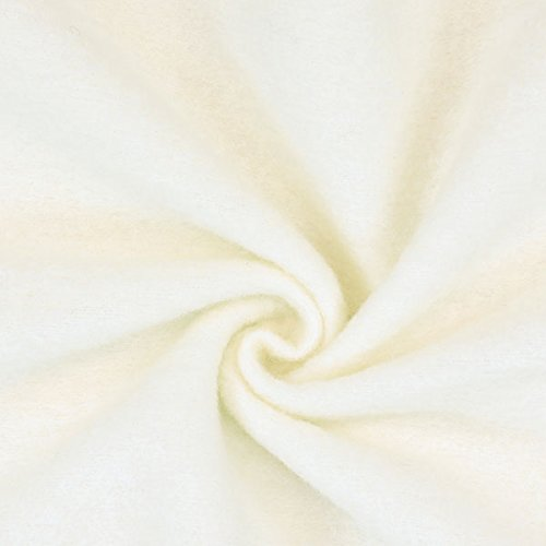 Fabulous Fabrics Kochwolle Klassik wollweiss — Meterware ab 0,5m — Oeko-Tex Standard 100 Produktklasse I — zum Nähen von Herbst-/Winterkleidung, Mäntel und Jacken
