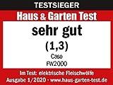 Caso FW2000 Elektrischer Fleischwolf, inkl. Spritzgebäck, Aufsatz 800 W nominal, 2000 W locked, ca. 2kg/ Minute, Alu Guss Gehäuse, starker Motor - 14