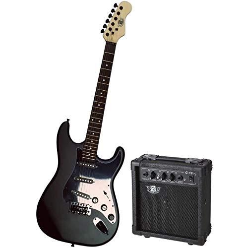 Legend pacs1 00bkm Juego de guitarra eléctrica, tipo Strato