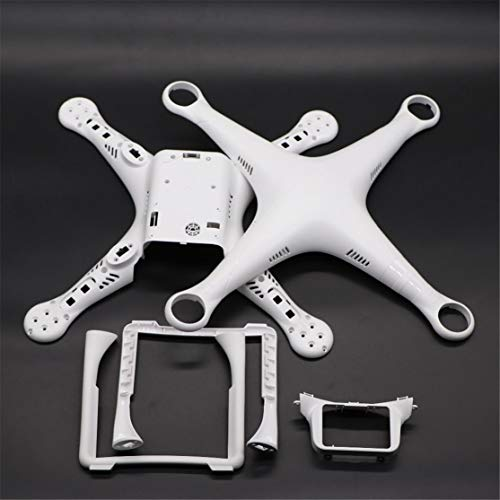 Drone Body Shell Rahmen Case Cover mit Fahrwerk für DJI Phantom 3 Professional Advanced Standard Quadcopter Ersatzteile(Color:White)